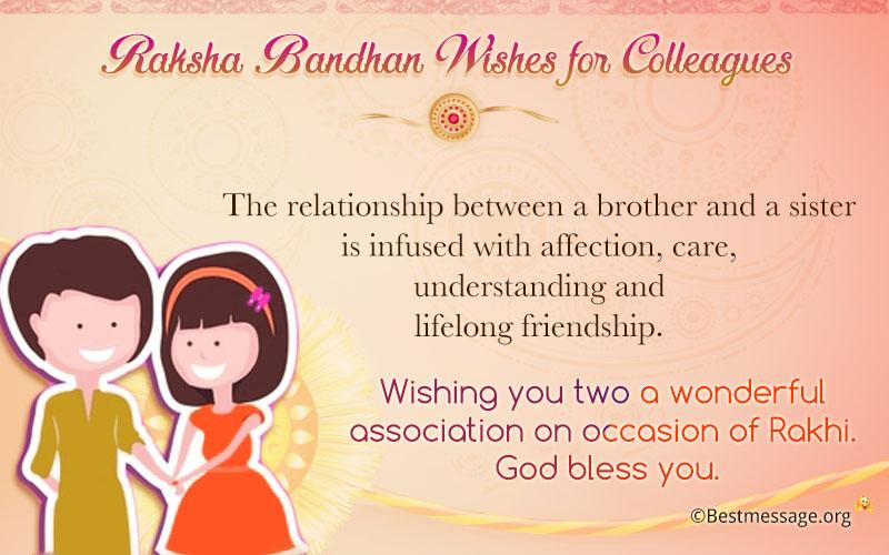 Raksha bandhan wishes sample birthday wishes messages raksha bandhan wishes for colleagues m4hsunfo